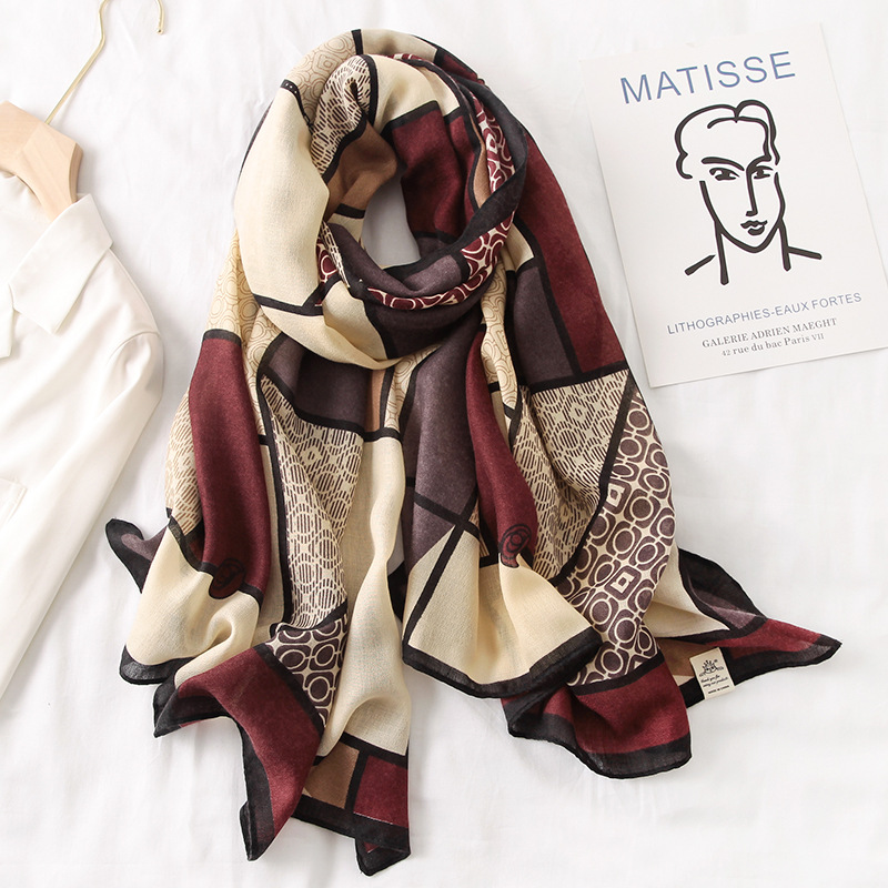 2020 New Design Brand Women Scarf Fashion Print Cotton Spring Winter Warm Scarves Hijabs Lady Pashmina Foulard Bandana Plaid