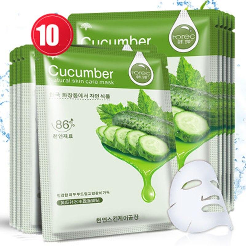 ZHENDUO 10 Pces/set Mask Face Cucumber Facial Mask Sheet Cosmetic Moisturizing Replenishment Mask For Face Skin Care