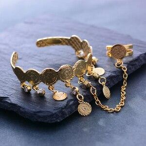 Image 5 - Wando Free Size Kids/Baby/Girls Coin Bracelet Bangles  Baby Islam Muslim Arab Coins Money bracelet Child holiday Hallowee gift