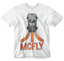 McFly Back To Future T-Shirt DeLorean Logo Movie Tee Classic Retro 80s Marty Unisex Loose Fit Tee Tshirt(China)