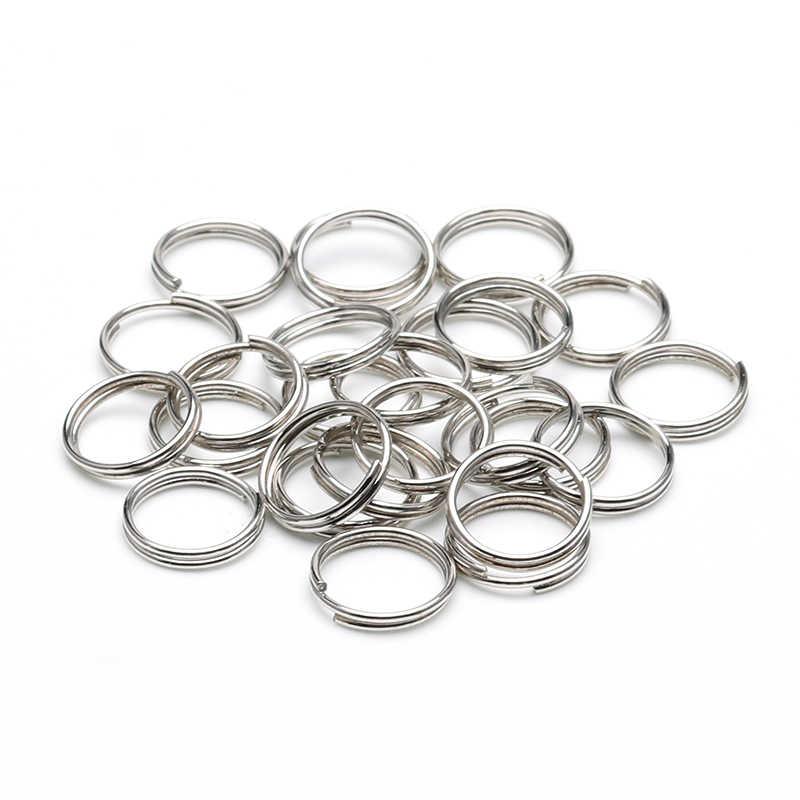 200 ชิ้น/ล็อต 4 6 8 10 12 มม.แหวนคู่ลูปทองเงินสีแหวนแยกแหวนสำหรับเครื่องประดับอุปกรณ์ DIY