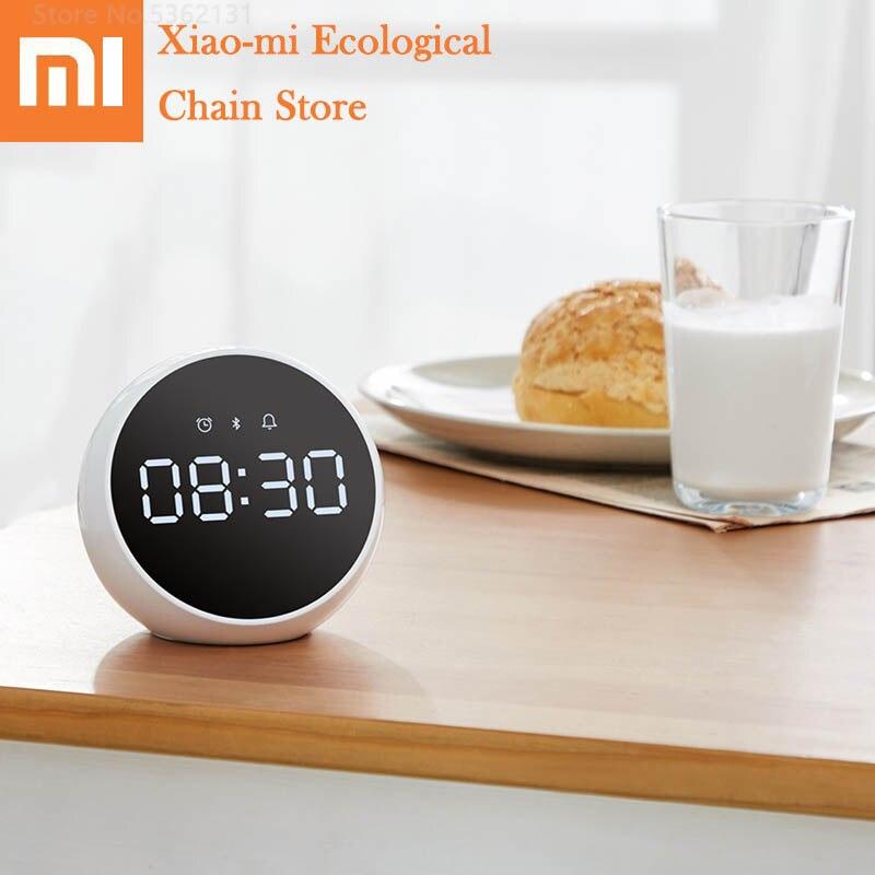 Xiaomi Alarm Speaker Bluethooth 5.0 Voice Control Digital Stereo Music Surround  With Mic Portable Indoor Speaker Alarm Clock
