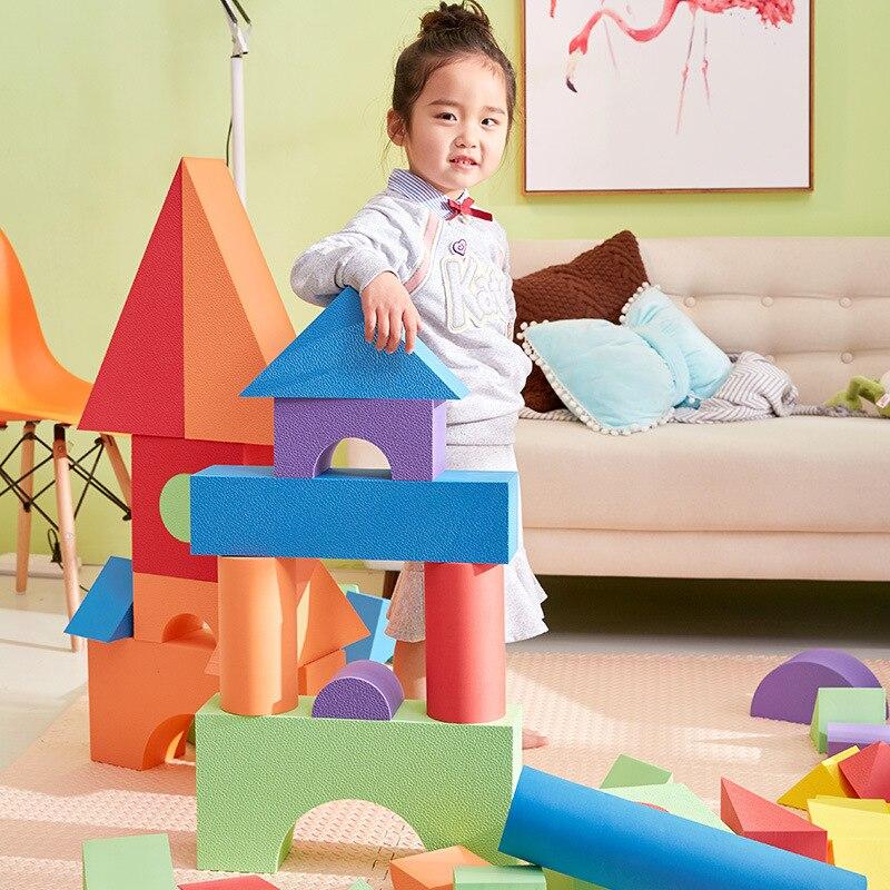 50 Pcs Baby Big Foam Blocks Large Kids Games Educational Toys Sponge Soft Building For Children Gifts
