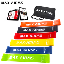 Maxairms Resistance Bands Set 6 Niveaus Workout Fitness Gym Apparatuur rubber loops Latex Yoga Gym Krachttraining Elastische Bands(China)