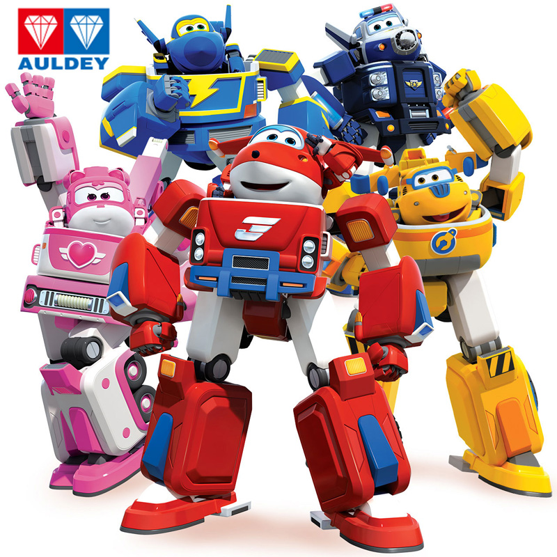 Newest Big Deformation Armor Super Wings Rescue Robot Action Figures Super Wing Transformation Fire Engines Toys
