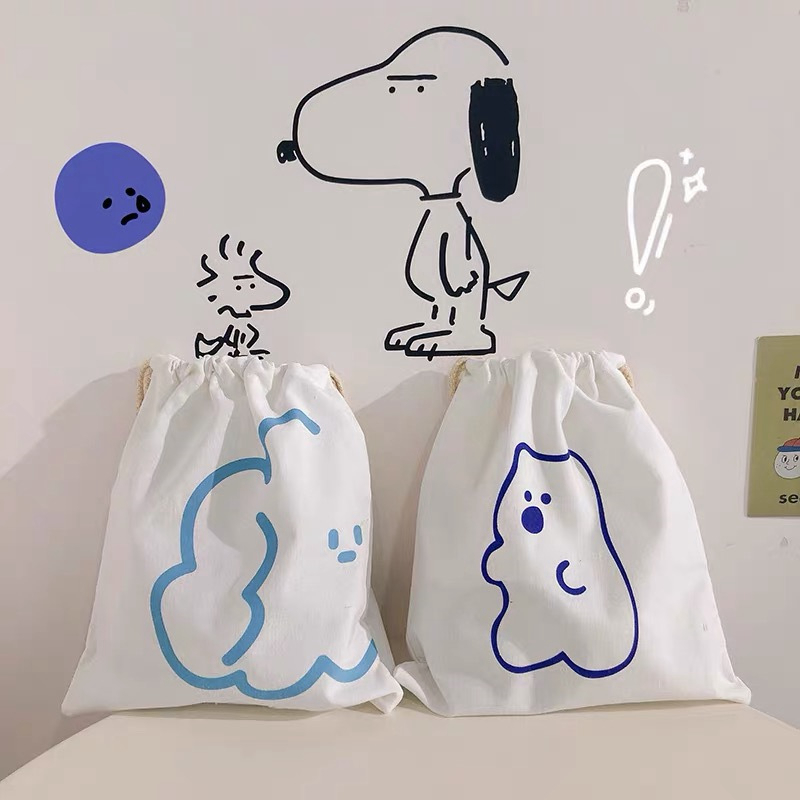 Cartoon Animal Bear Cosmetic Bag Drawstring Travel Makeup Portable Case Organizer Make Up Toiletry Beauty Wash Storage Pouch