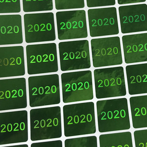 Image 1 - 2020 홀로그램 탬퍼 분명 홀로그램 스티커 녹색과 은색 홀로그램 스티커 15x15mm