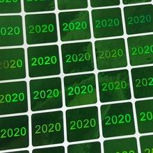 Etiqueta holográfica evidente do holograma 15x15mm do verde e da prata das etiquetas da calcadeira do holograma 2020