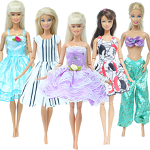 Princess-Dress Barbie-Doll Skirt Short Lace Mini for Kids Toy Party-Gown Floral Wedding