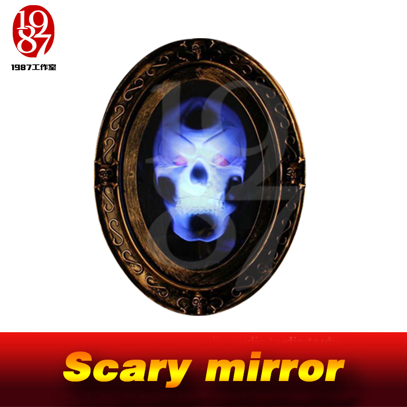 Halloween Costumes Escape Room Escapes Props Magic Ghost House Sound Control Mirror From JXKJ1987 Scary Mirror Horror Mirror