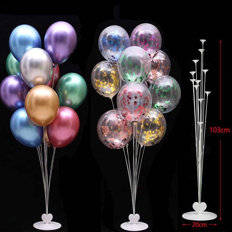 7/11/13/19 Tubes Balloon Stand Holder Column Confetti Balloons Happy Birthday Ballon Kids Baby Shower Wedding Party Decorations 6