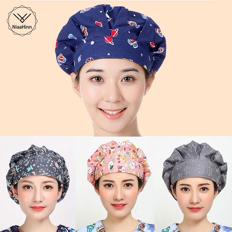 Men Women Food Service Caps Breathable Sanitary Dust Cap Workshop Canteen Kitchen Restaurant Hotel Bakery Waiter Chef Work Hats