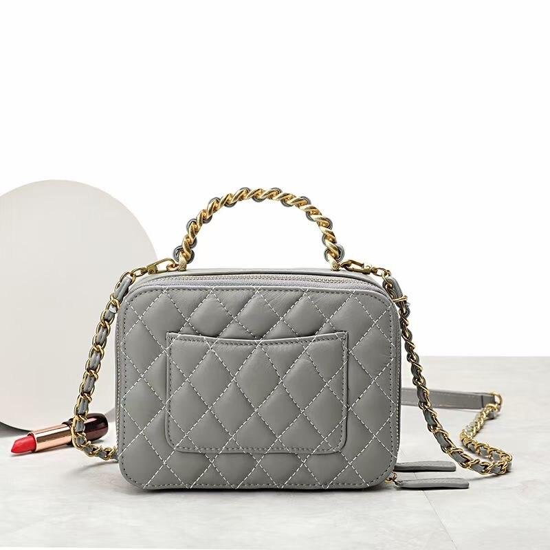 Chsanato couro de luxo das mulheres saco