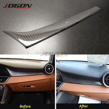 LHD Real Carbon Fiber Voor Alfa Romeo Giulia 952 2017-2020 Auto Interieur Passenger Side Console Handschoenenkastje Strip cover Trim