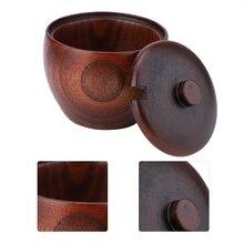 Nosii, 1 шт., жесткая деревянная банка для специй, горшок для приправ, сахарница с ложкой и крышкой для кухонного инструмента, деревянная крышка с ложкой, банка для приправ