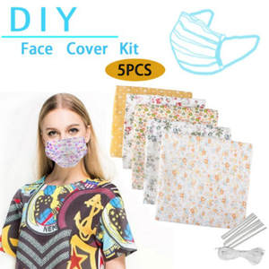 Mask-Kit Homemade-Mask Make-Face-Mask-Mouth-Masks Nose Non-Woven-Material 5pcs DIY Bridge-Clips