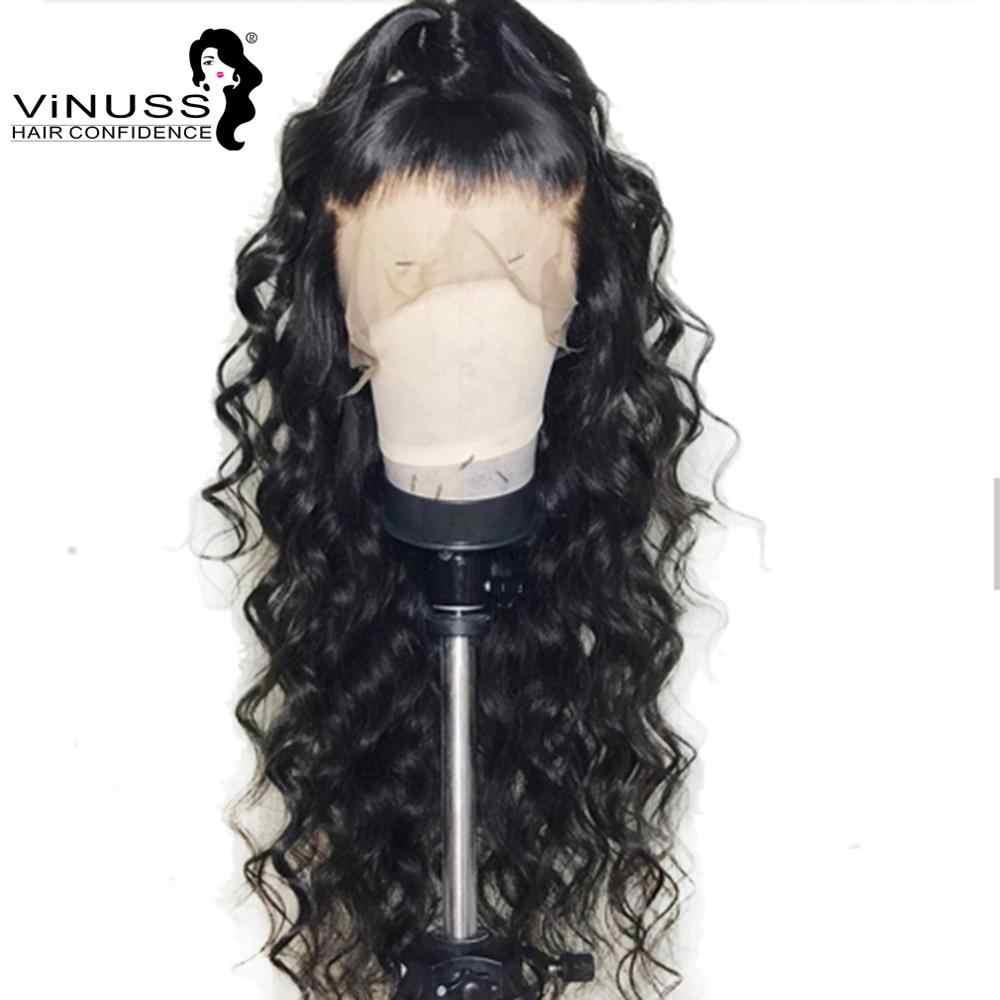 Pelucas de pelo humano Frontal de 180% densidad 360 con encaje, ondas sueltas, pelo Pre desplumado para bebés, pelo Remy brasileño para mujeres negras