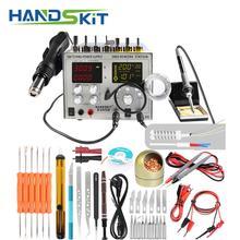 Digital Soldering Iron SMD Hot Air Gun Auto Sleep BGA Rework Solder Station 110V/220V usb  5V 2A  DC Power Supply 30V 5A
