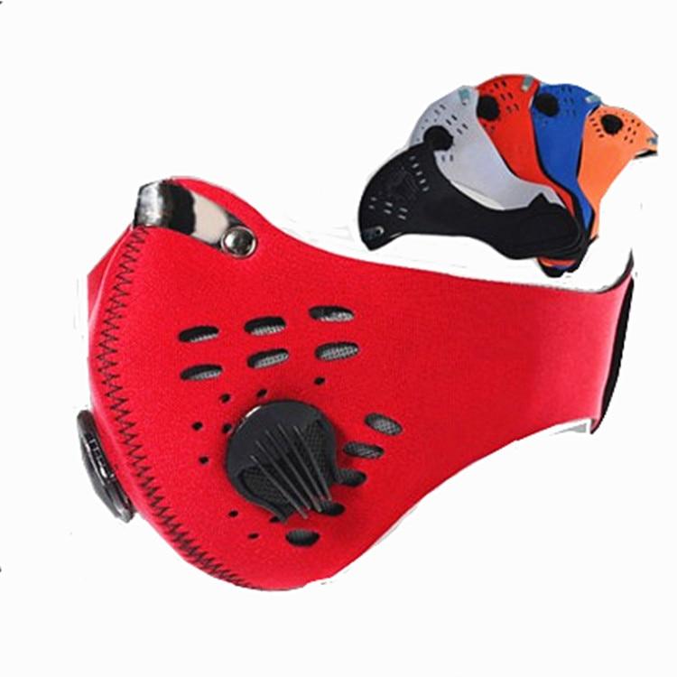 Anti Haze PM2.5 Dust Mask Outdoor Sports Valve Mouth Mask Pollution Facial Respirator Reusable Earloop Carbon Filter Face Masks