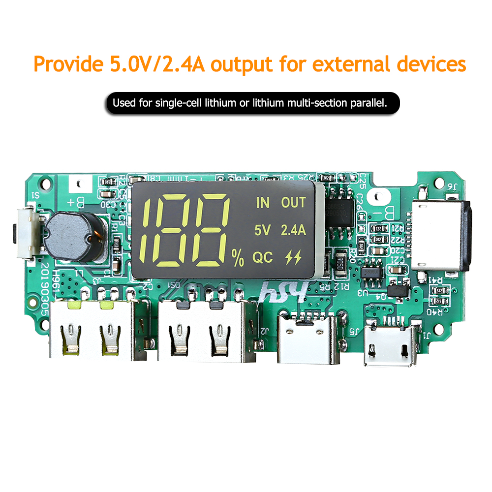 Hot 18650 Lithium Battery Protection Board Power Supply Module Board Dual USB Charging Port for DIY Power Bank Portable Charger