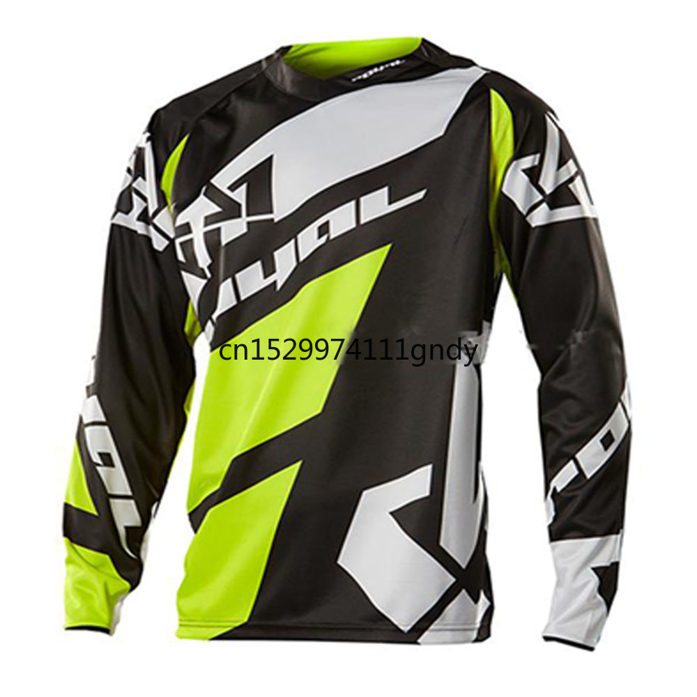 New 2020 Black Moto GP Mountain Bike Motocross Jersey BMX DH MTB T Shirt Clothes Yellow MotocrossRopa Ciclismo Invierno Hombre