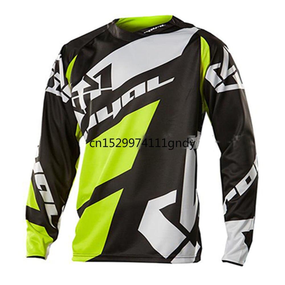 New 2020 Black Moto GP Mountain Bike Motocross Jersey BMX DH MTB T Shirt Clothes Yellow MotocrossRopa Ciclismo Invierno Hombre