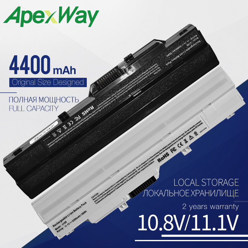 Apexway Laptop Battery For MSI BTY-S11 BTY-S12 Wind U100 L1300 L1350 L1350D U100X U100W U135DX U210 U270 U90X Wind12 U200 U230