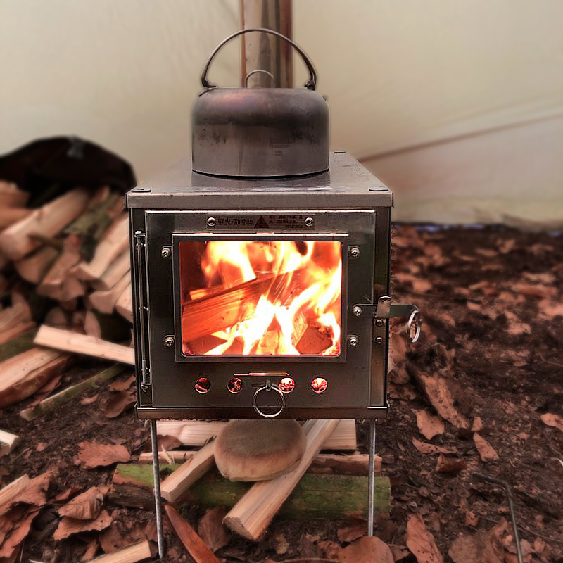 Bushcraft Outdoor Ultralight Titanium Alloy Wood Stove Detachable Stove Multipurpose Camping Tent Heating Stove Outdoor Survival