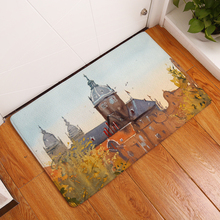 Home Entrance Floor Doormat Tower Printed Non Slip Bathroom Carpet Absorbent Kitchen Rug Home Decor Hallway Mat 40*60cm 50*80cm persian totem printed home decor antiskid rug