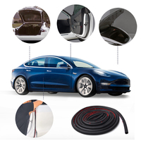 MICTUNING High Quality 11pcs Car Seal Strips Kit Auto Rubber Door Seal Wind Noise Reduction Clip Set Suitable for Tesla Model 3
