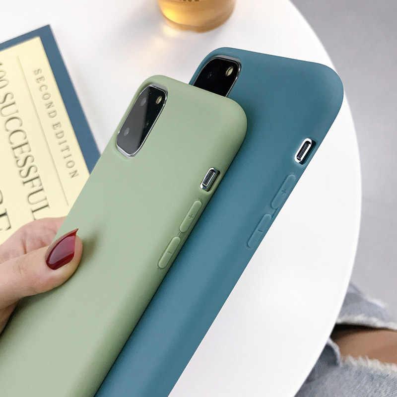 Lovebay doces cor silicone para iphone 6s 7 8 plus x xr xs max caso de telefone simples cor sólida macio tpu para iphone 11 pro caso