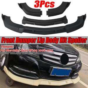 W204 Matte/Gloss Black Car Front Bumper Splitter Lip Spoiler Diffuser Protector Cover Trim For Mercedes For Benz W204 2008-2014(China)