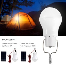 2pcs Solar Lights Solar Powered Led Light Bulb Portable Solar Lamp Spotlight with Solar Panel for Outdoor Hiking Camping Tent new arrival 22 led solar powered yard outdoor hiking tent light camping hanging lamp with remote control pure white
