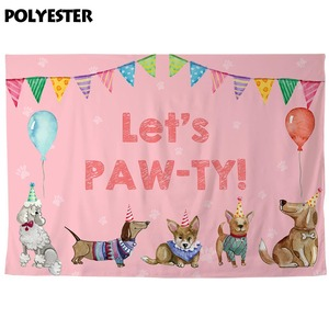 Image 4 - Allenjoy photography backdrop Dogs Banners Balloons Birthday Baby Shower party photophone photographic backgrounds