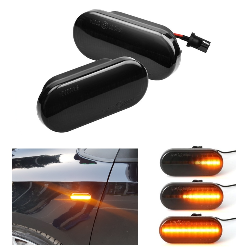 2 pieces Car Led Dynamic Side Marker Turn Signal Light Sequential Blinker Lights For <font><b>Ford</b></font> Focus MK2 C-Max <font><b>Fusion</b></font> Galaxy Fiesta image