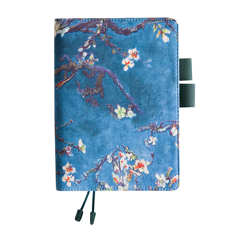 A5/A6 Size Fabric Printed Flowers Notebook Notepad (No Pen) for Office, Student or Gift , <font><b>100gsm</b></font> Beige Page, 100 Sheets TPN039 image