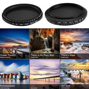 Image 4 - 40.5mm/46mm fader nd variável filtro nd2 ajustável para nd400 ND2 400 densidade neutra para canon nikon sony lente da câmera
