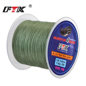 FTK 114M PE Braided Wire Fishing Line 125Yards 4 Strands 0.10mm-0.40mm 8LB-60LB Japan Incredibly Strong Multifilament Fiber Line