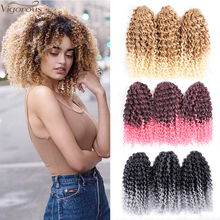 Vigorous 8 inch Marley Braids Crochet Braid Synthetic Braidi