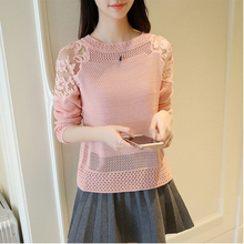 Korean-style Thin Loose-Fit Crew Neck Pullover Sweater Women's,Spring Sweater crew neck casual sweater dress