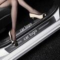 4 шт. углеродного волокна автомобиля порогов и устойчивая к царапинам Стикеры для Audi A3 A4 A5 A6 A7 A8 TT Q3 Q5 Q7 A1 B5 B6 B7 B8 B9 8P 8V 8L C6