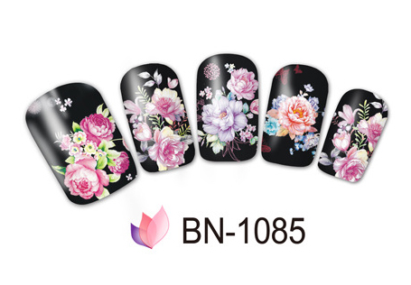 Nail Sticker Art Water Decals Noble Peony Rose Flower Designs Nails Slider Tattoo Decoration Manicure Pegatina Foil Wraps