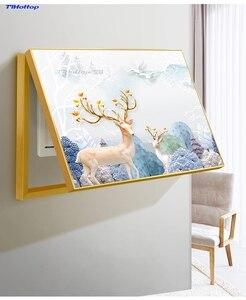 Золотая рамка, коробка для измерения, декоративная распределительная коробка, скандинавский простой современный переключатель, коробка пи...