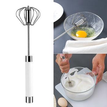 Półautomatyczne mieszadło ze stali nierdzewnej mieszadło do mieszania jajko mleko trzepaczka pieczenie w kuchni narzędzie jajko krem mieszanie mieszanie mikser tanie i dobre opinie Jajko naganiaczy Egg Beater Ekologiczne Zaopatrzony Ręcznie Metal STAINLESS STEEL Egg stiring Egg Beater Tools Stainless Steel Silicone