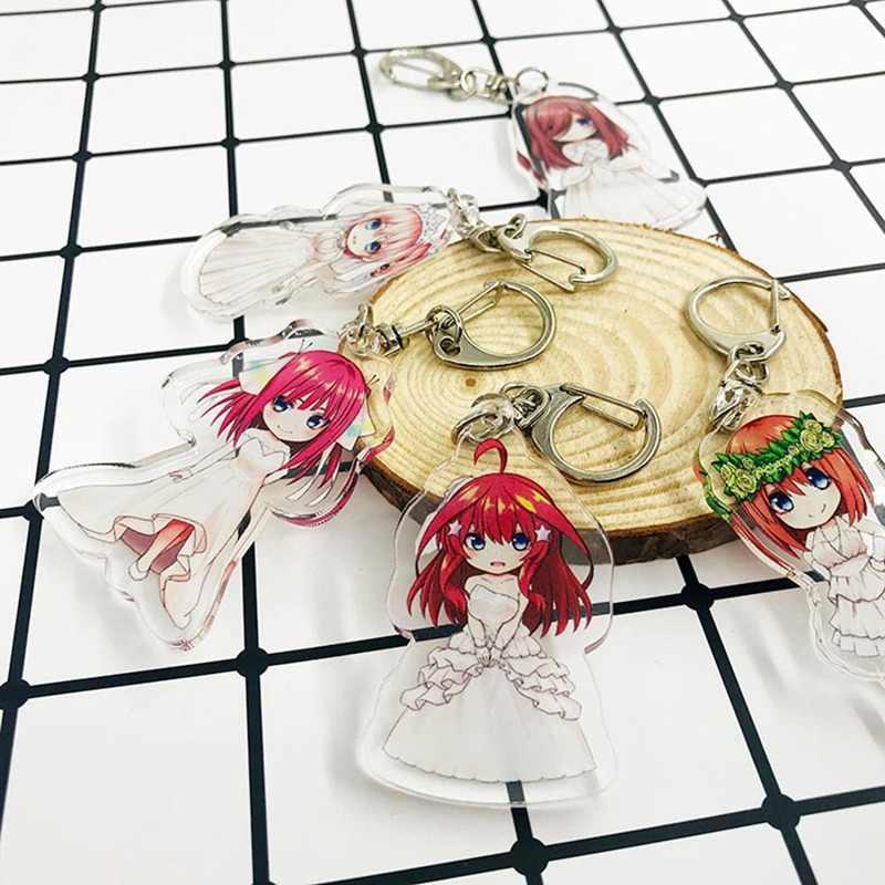 אנימה המובהק Quintuplets אקריליק keychain נאקאנו Ichika נינו Miku Yotsuba Itsuki חמוד מצחיק cartoon תליון keyrings צעצוע