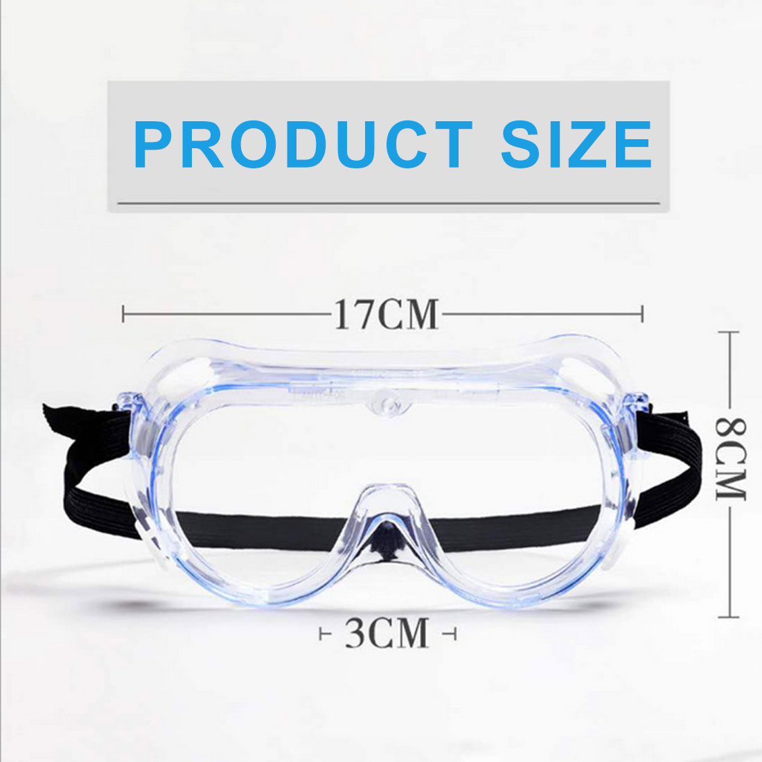 Eye Protection Safety Glasses Work Anti Virus Eye Anti-Fog Antisand Windproof Anti Dust Saliva Transparent Goggles
