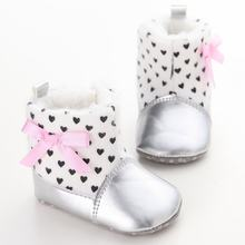 Baby Shoes PU Padded Toddler Baby Boys Girls Boots Soft Newborn Baby Shoes Winter Warm(China)