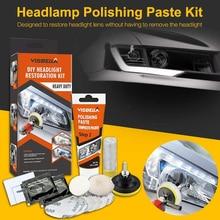 Kit de restauração de farol visbella, kit profissional de reparo de farol com iluminador e cuidados com o carro, lente para polimento limpo