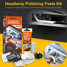 VISBELLA Professional Headlight Restoration Kit DIY Headlamp Brightener Car Care Repair kit Head Lense Clean Polish by machine