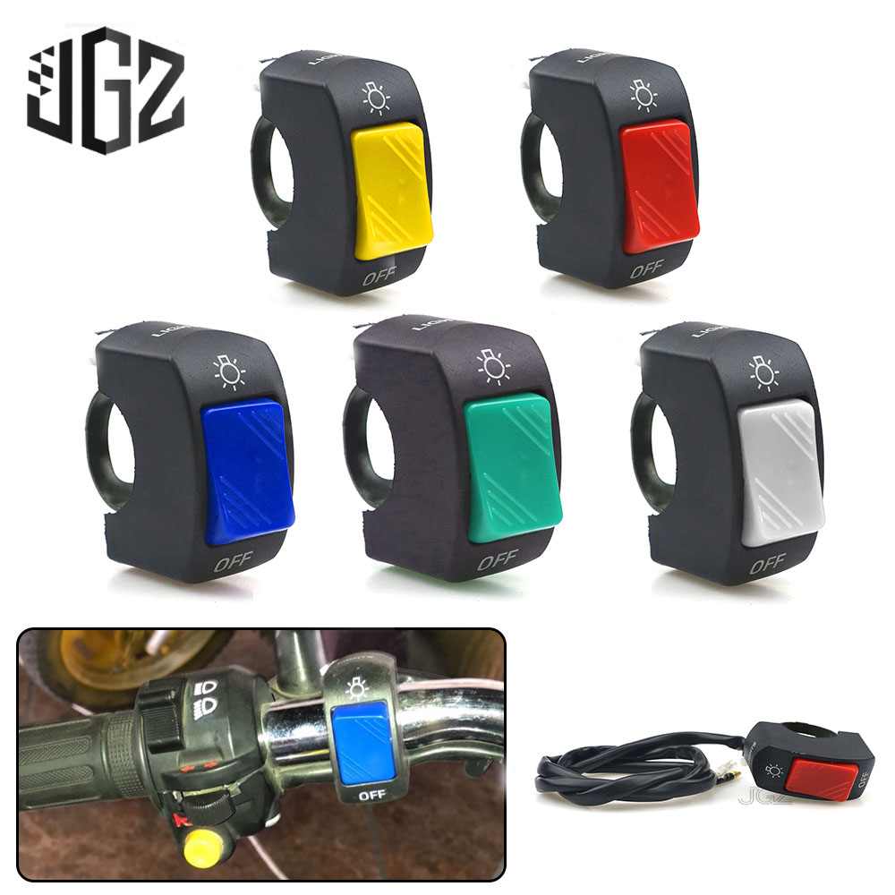 22mm Motorcycle On-Off <font><b>Switch</b></font> Push Button <font><b>Handlebar</b></font> <font><b>Switches</b></font> 12V ATV Electronic <font><b>Bike</b></font> Scooter Motorbike Bullet Connector Parts image